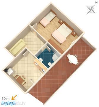 Apartment A-6356-f - Apartments Zubovići (Pag) - 6356