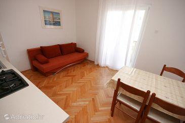 Stara Novalja, Dining room u smještaju tipa apartment, WIFI.