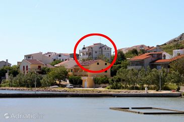 Property Pag (Pag) - Accommodation 6380 - Apartments near sea with pebble beach.