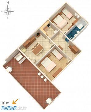Apartment A-6395-a - Apartments Metajna (Pag) - 6395