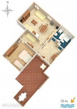 Apartment A-6395-b - Apartments Metajna (Pag) - 6395