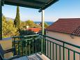 Orebić, Terrace u smještaju tipa apartment, s pogledom na more, dopusteni kucni ljubimci i WIFI.