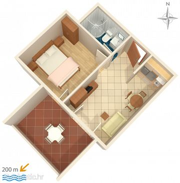 Apartment A-6432-b - Apartments Novalja (Pag) - 6432