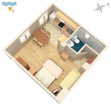 Studio AS-6445-b - Apartamenty Turanj (Biograd) - 6445