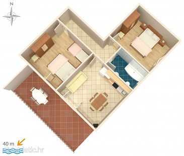 Apartment A-6498-b - Apartments Metajna (Pag) - 6498