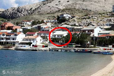 Property Metajna (Pag) - Accommodation 6498 - Apartments near sea with sandy beach.