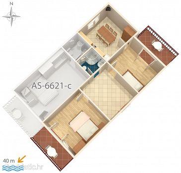 Apartment A-6621-a - Apartments Starigrad (Paklenica) - 6621