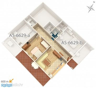 Apartment A-6629-a - Apartments Seline (Paklenica) - 6629