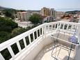 Makarska, Balcony u smještaju tipa apartment, s pogledom na more, dopusteni kucni ljubimci i WIFI.