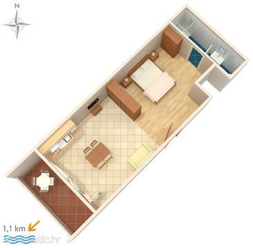 Studio flat AS-6643-b - Apartments and Rooms Makarska (Makarska) - 6643