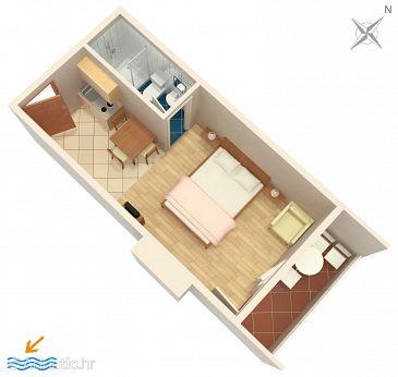 Studio flat AS-6658-b - Apartments Drvenik Donja vala (Makarska) - 6658