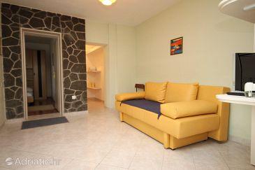 Podgora, Living room u smještaju tipa apartment, dopusteni kucni ljubimci i WIFI.