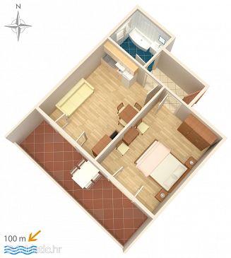 Apartment A-6672-b - Apartments Podgora (Makarska) - 6672