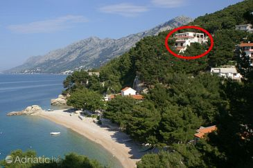 Property Brela (Makarska) - Accommodation 6688 - Apartments near sea with pebble beach.