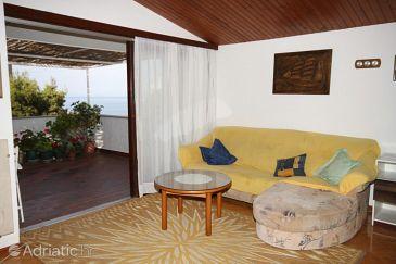 Makarska, Living room u smještaju tipa apartment, dostupna klima i WIFI.