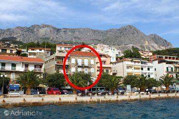 Property Podgora (Makarska) - Accommodation 6709 - Apartments near sea with pebble beach.