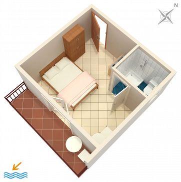 Studio AS-6745-e - Apartamenty Podaca (Makarska) - 6745