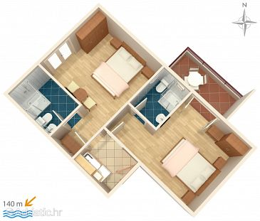 Apartment A-6750-a - Apartments Promajna (Makarska) - 6750
