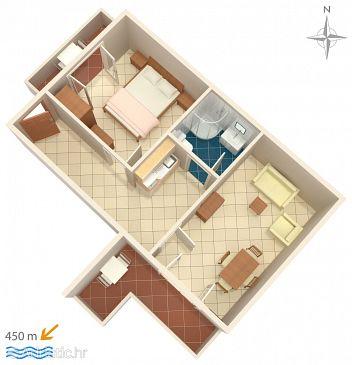 Apartment A-6763-c - Apartments Baška Voda (Makarska) - 6763