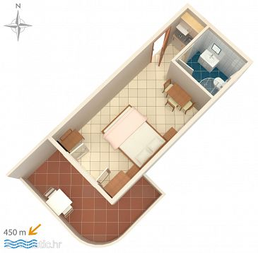 Studio flat AS-6763-a - Apartments Baška Voda (Makarska) - 6763