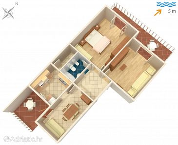 Apartment A-686-a - Apartments Tkon (Pašman) - 686