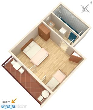 Studio flat AS-6867-a - Apartments Brist (Makarska) - 6867