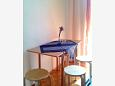 Gradac, Dining room u smještaju tipa studio-apartment, dopusteni kucni ljubimci i WIFI.