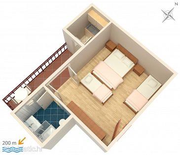 Studio flat AS-6895-a - Apartments and Rooms Brela (Makarska) - 6895