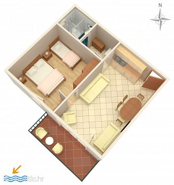 Apartment A-6909-a - Apartments and Rooms Makarska (Makarska) - 6909