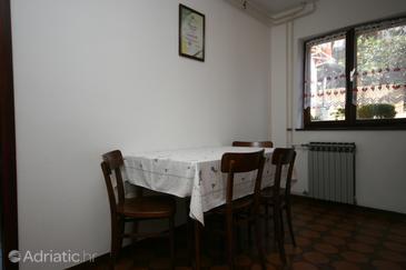 Novigrad, Dining room u smještaju tipa apartment, dopusteni kucni ljubimci.