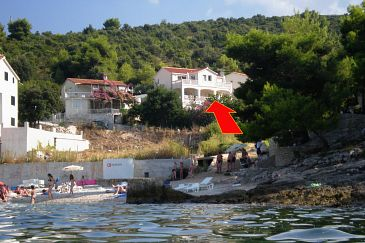 Property Postira (Brač) - Accommodation 705 - Apartments near sea with pebble beach.