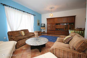 Stranići, Obývací pokoj u smještaju tipa apartment, dostupna klima i WIFI.