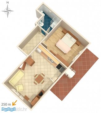 Apartment A-7117-a - Apartments Tribunj (Vodice) - 7117