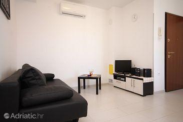 Rovinj, Obývací pokoj u smještaju tipa apartment, dostupna klima, dopusteni kucni ljubimci i WIFI.