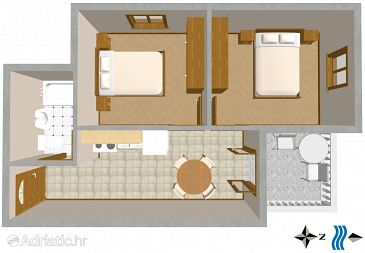 Apartment A-723-a - Apartments Povlja (Brač) - 723