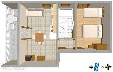 Apartment A-730-a - Apartments Mirca (Brač) - 730