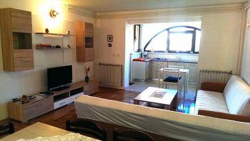 Štinjan, Living room u smještaju tipa apartment, dopusteni kucni ljubimci i WIFI.