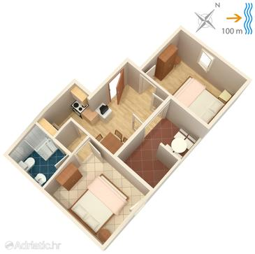 Apartment A-739-c - Apartments Postira (Brač) - 739