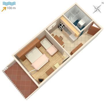 Apartament A-740-c - Apartamenty Postira (Brač) - 740