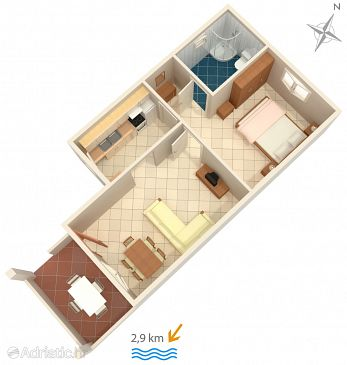 Apartment A-7420-a - Apartments Pula (Pula) - 7420