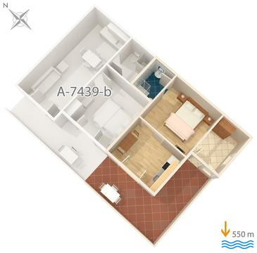 Apartment A-7439-c - Apartments Rabac (Labin) - 7439
