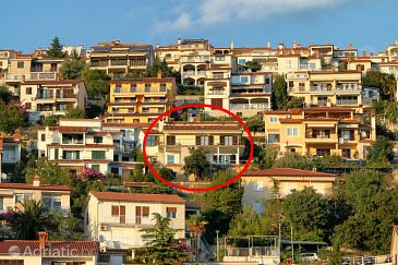 Property Rabac (Labin) - Accommodation 7440 - Apartments with pebble beach.