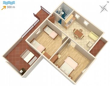 Apartament A-745-a - Apartamenty Sutivan (Brač) - 745