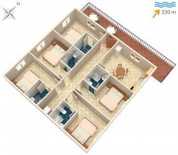 Apartament A-747-a - Apartamenty Sutivan (Brač) - 747