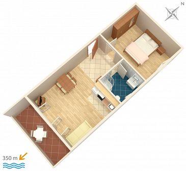 Apartament A-7482-a - Apartamenty Mali Rat (Omiš) - 7482