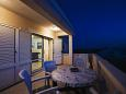 Ražanj, Terrace u smještaju tipa apartment, s pogledom na more i WIFI.