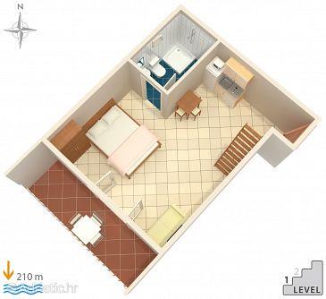 Studio flat AS-7532-e - Apartments Duće (Omiš) - 7532