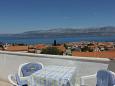 Supetar, Terrace u smještaju tipa apartment, s pogledom na more i WIFI.