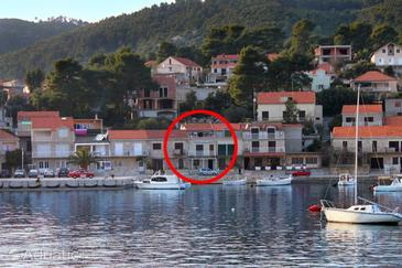 Property Brna (Korčula) - Accommodation 7553 - Apartments near sea with sandy beach.