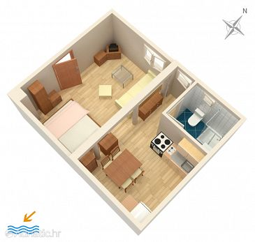 Studio flat AS-7564-a - Apartments Split (Split) - 7564